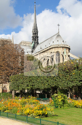 Gärten von Notre Dame in Paris