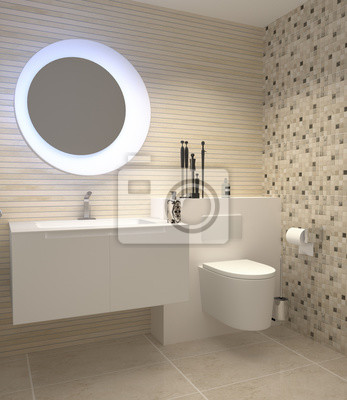 Gäste-wc toilette wc fliesen fliesendekor fliesenmosaik ...