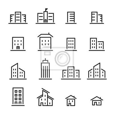Bild Gebäude-Linie-Symbol