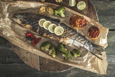 Bild Gebratener Lachs und Gemüse