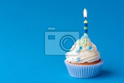 Geburtstag Cupcake Leinwandbilder Bilder Cupcakes Blauem