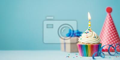 Geburtstag Cupcake Leinwandbilder Bilder Myloview De