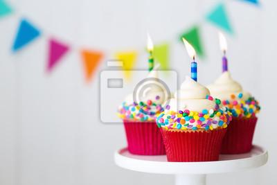 Geburtstag Cupcakes Leinwandbilder Bilder Geburtstagsparty