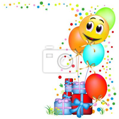 Geburtstagseinladung Smiley Leinwandbilder Bilder Geburtstagsparty