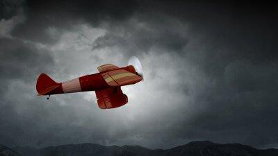 Bild Gefahr eines Flugzeugabsturzes. Gemischte Medien
