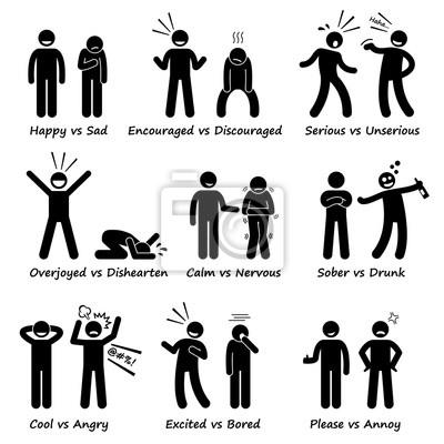 Gegenüber gefühl gefühle positives vs negative aktionen ...