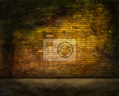 Bild geheimnisvolle Backsteinmauer