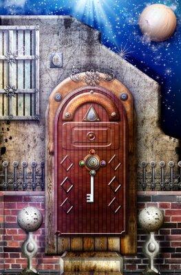 Bild Geheimnisvolle Tür in der sternenklaren Nacht