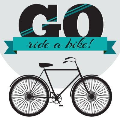 Gehen Sie mit dem Fahrrad fahren - Vector Typografie Poster