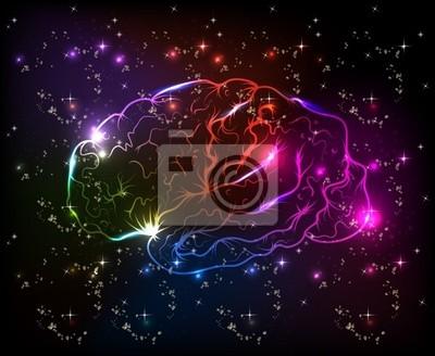 Gehirn Bokeh abstrakte hellen Hintergrund
