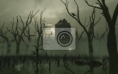 Geisterhaus Turm im Sumpf
