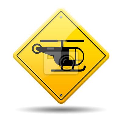 Gelb symbol Hubschrauber