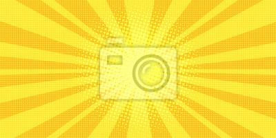 Bild gelbe Strahlen Hintergrund Pop-Art