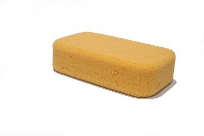 Gelber Schwamm für Autowäsche