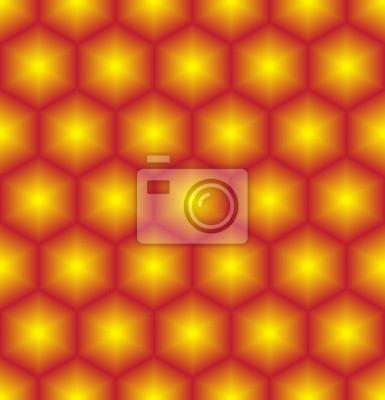 Gelbes rotes gemischtes geometrisches nahtloses Muster.