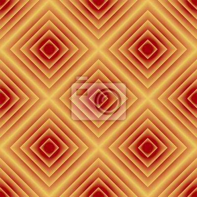 Gelbes rotes geometrisches nahtloses Muster der Steigung.