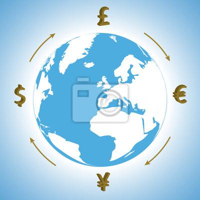 Bild Geld auf der ganzen Welt