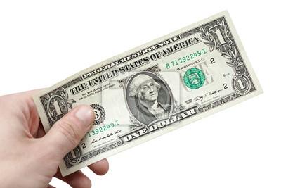 Bild Geld-Dollar in der Hand