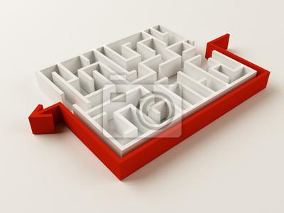 Gelöst Maze Puzzle