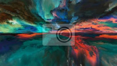 Gemalte abstrakte Landschaft