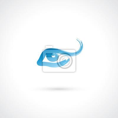 Gemalte Augen Label