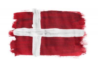 Bild Gemalte dänische Flagge isoliert