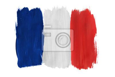 Bild Gemalte französische Flagge isoliert
