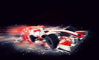 Generisches F1-Auto mit speziellen Geschwindigkeitseffekt