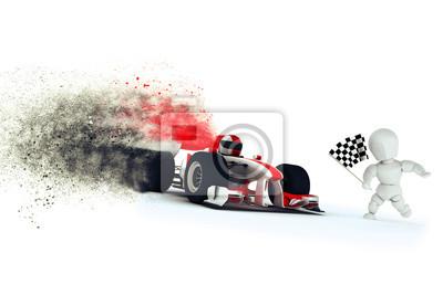 Generisches Rennwagen Geschwindigkeit Wirkung