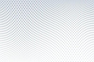 Geometric halftone pattern. Wavy movement illusion.