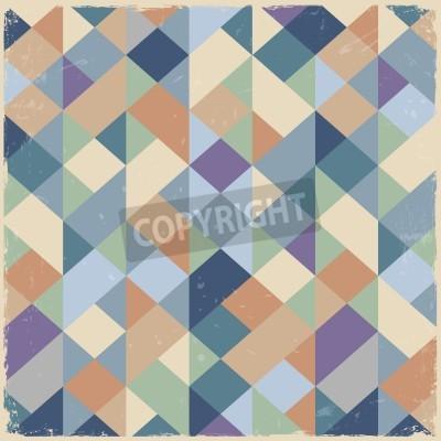 Bild Geometric retro background in pastel colors