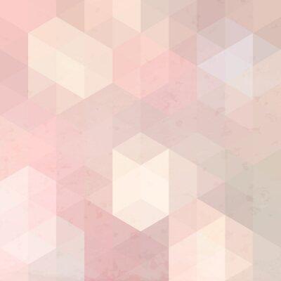 Bild Geometric retro background with grunge texture