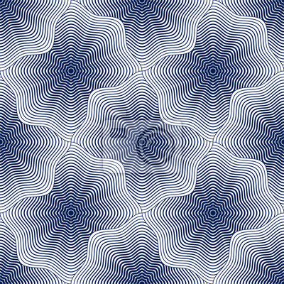 Geometric seamless pattern, abstract tiling background, vector repeat endless wallpaper illustration. Shellfish shells shapes trendy repeat motif.