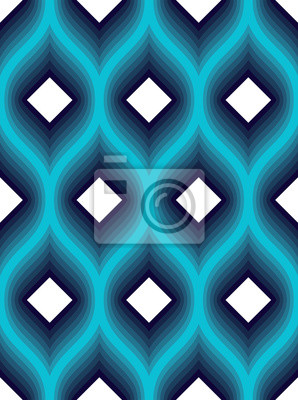 Geometric seamless pattern, abstract tiling background, vector repeat endless wallpaper illustration. Wavy curve shapes trendy repeat motif. Usable for fabric, wallpaper, wrapping, web and print.