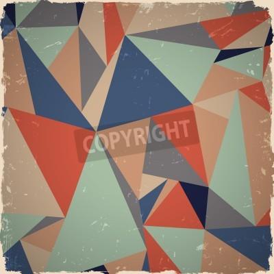 Bild Geometrische grunge Hintergrund in Retro-Farben