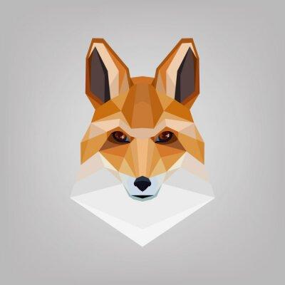 Bild Geometrische Kantkopf ist Füchse. Logo-Design.
