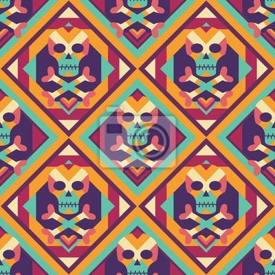 Geometrische Schädel-Muster-