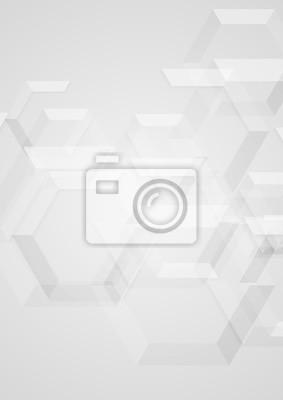 Bild Geometrischer Hintergrund der abstrakten grauen minimalen Technologie