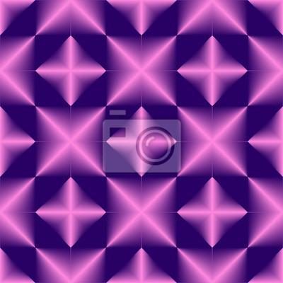 Geometrisches nahtloses Muster des rosa blauen Steigungselements.