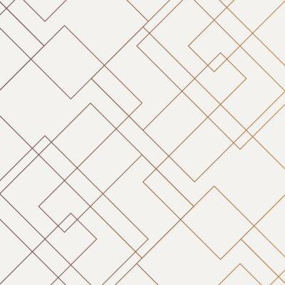 Bild Geometrisches Vektormuster, dünne lineare quadratische Diamantform und -rechteck wiederholend. Sauberes Design für Stofftapete gemalt. Das Muster befindet sich im Farbfeldbedienfeld