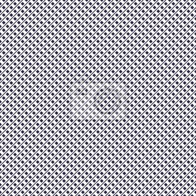 Gepunktetes minimales geometrisches nahtloses Muster, einfacher minimalistischer Vektorhintergrund.  Kleine Rechtecke vereinfachen wiederholte Fliesen Tapetendesign.  Einfarbig, schwarz und weiß.