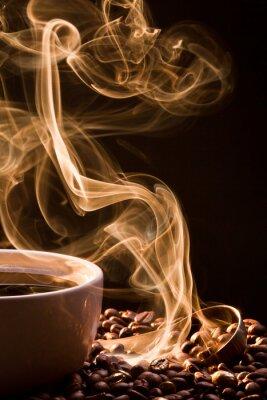 Bild Geruch von guten Kaffee aus einer Tasse