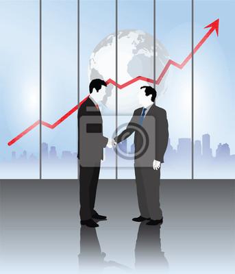 Geschäftsleute Händeschütteln Vektor