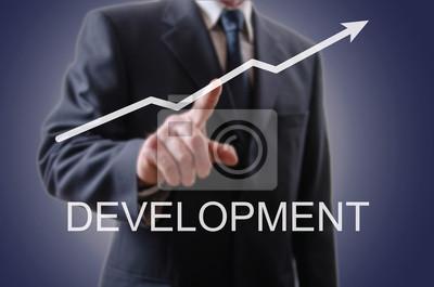 Bild Geschäftsmann, der die Entwicklung