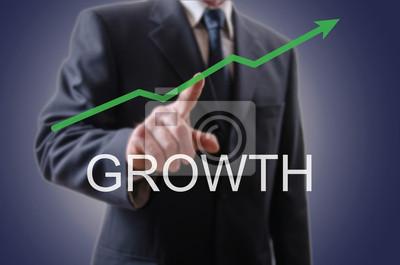 Bild Geschäftsmann, der die Wachstums