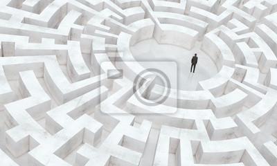 Bild Geschäftsmann in der Mitte von einem Labyrinth