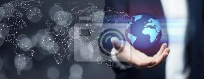 Bild Geschäftsmann mit globalen Netzwerk