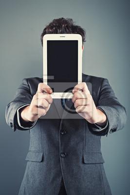 Geschäftsmann und digitale Tablette