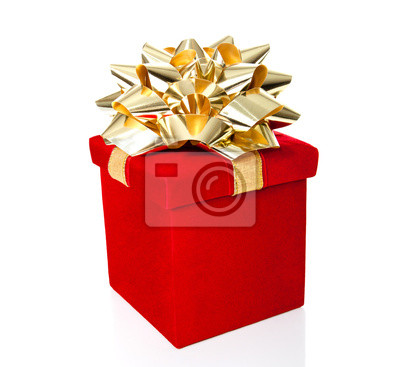Geschenk-Box für alle Gelegenheiten, isoliert auf weiss