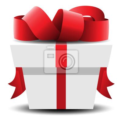 Geschenk Paket Rot Weiss Vektor Grafik Leinwandbilder Bilder 14